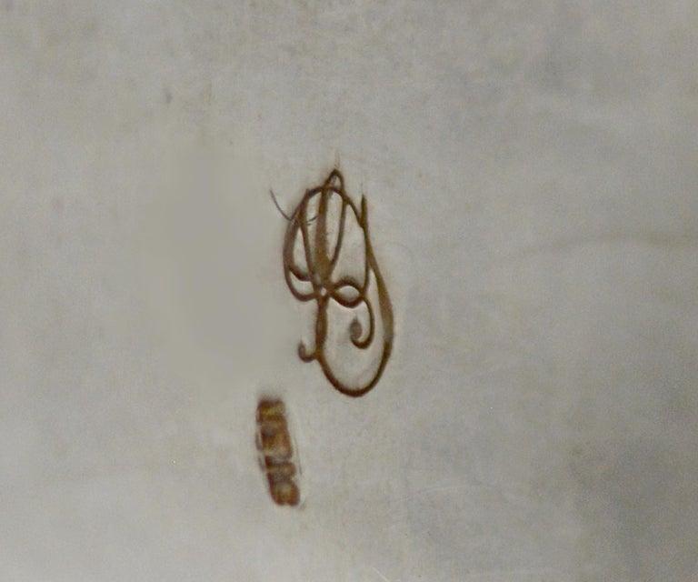 Jill Garber Antique French Sacred Heart Medal Cuff Bracelet with Natural Garnets For Sale 7