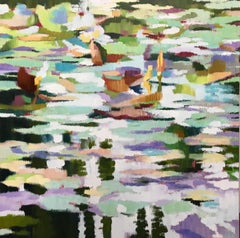 """""""Giverny XVI"""", Contemporary, Oil, Painting, Canvas, Waterscape, Landscape"""