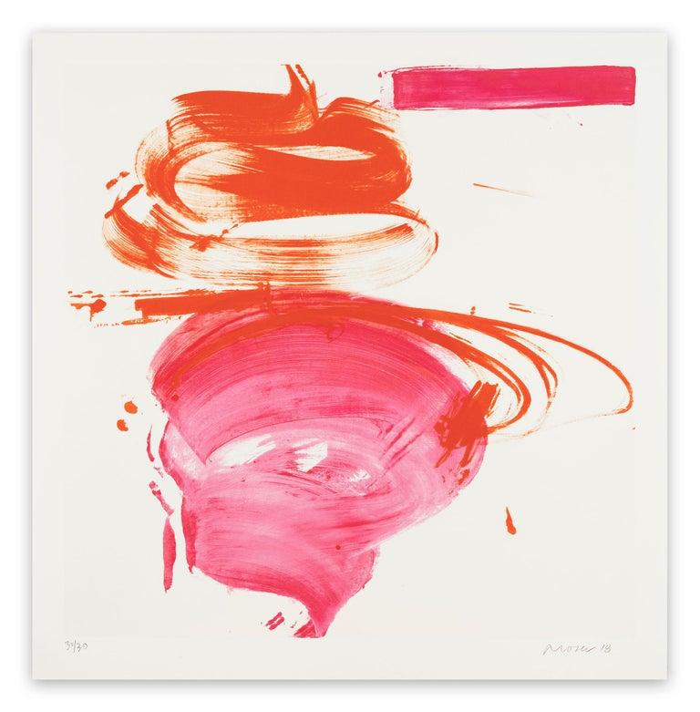 Jill Moser Abstract Print - Pink Mama (Abstract print)