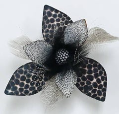 Superfly, Black and White Handmade Paper Floral Wall Hanging Sculpture