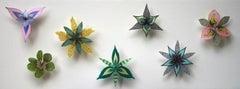 Colorburst Pinwheels, Pinned Paper Flowers in Green, Pink, Yellow, Purple