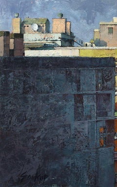 """""""Window View Barcelona No. 1"""", Oil Painting"""