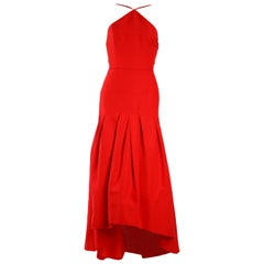 Jill Stuart Red Asymmetric Gown