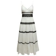 Jill Stuart White & Black Eyelet Maxi Dress