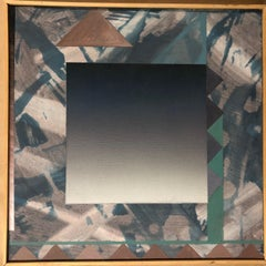 Untitled painting by Jim Alford, gradient, mauve, sage, white, black abstract