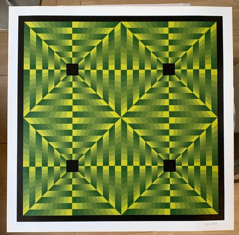 Jim Bird - tribute to Vasarely 16 - Painting by Jim Bird