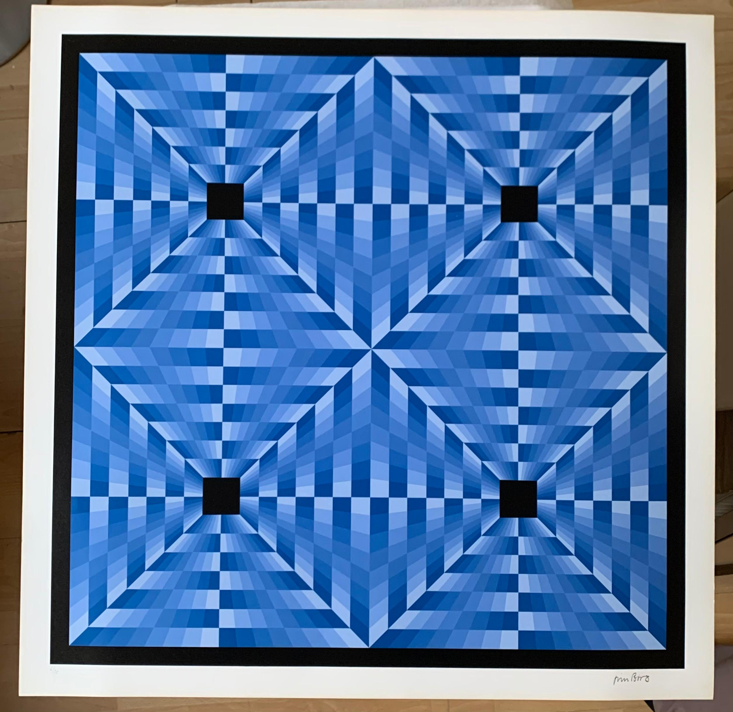 tribute to Vasarely 6 blue