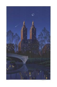 1994 Jim Buckels 'San Remo, New York' Blue USA Serigraph