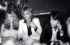 Dustin Hoffman, Rod Stuart, and Alana Stuart at Studio 54 Fine Art Print