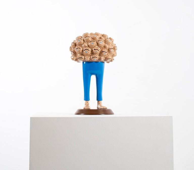 «Eyes of observation» Figurative Sculpture by Norwegian artist Jim Darbu For Sale 2