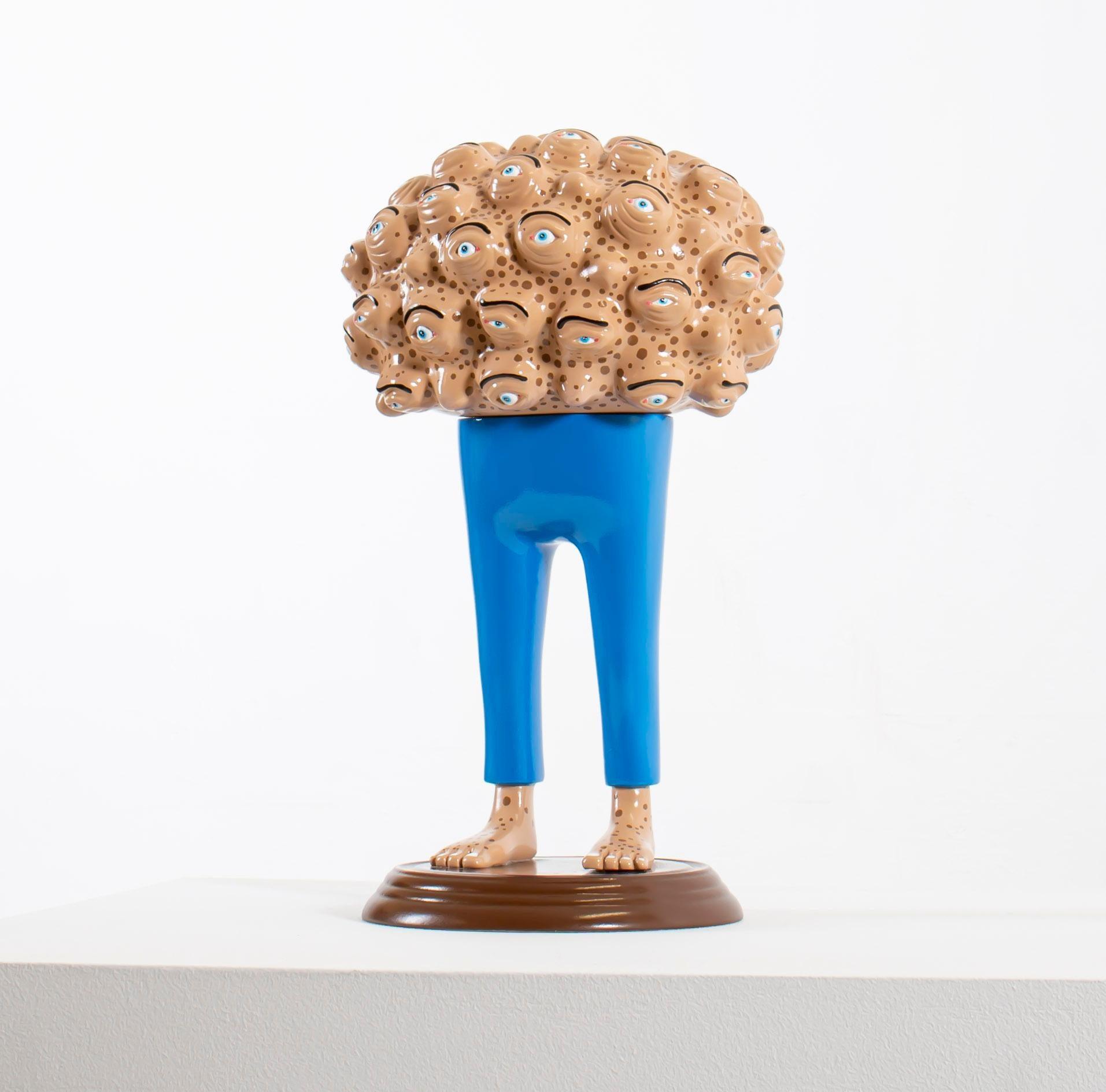 «Eyes of observation» Figurative Sculpture by Norwegian artist Jim Darbu