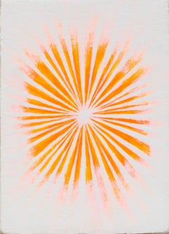Flash Point, abstract neon orange flames on white background
