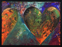 A Smaller Fortress by JIM DINE - Pop art, Modern art, colourful paintings, heart