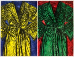 Kindergarten Robes - Contemporary, Woodcut printed in colours by Jim Dine