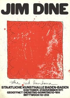 1971 Jim Dine 'Red Bandana' Pop Art Red Germany Lithograph