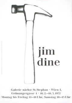 1972 After Jim Dine 'Hammer' Pop Art Black & White Germany Offset Lithograph