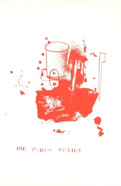 1975 Jim Dine 'Paris Review' Pop Art Red,White usa Serigraph