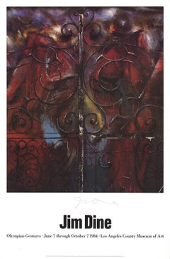 1983 Jim Dine 'Detail from the Crommelynck Gate (The Sentinels)' Pop Art Brown,R