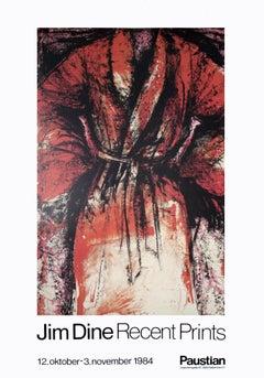 1984 After Jim Dine 'Recent Prints' Pop Art Red,White Denmark Offset Lithograph