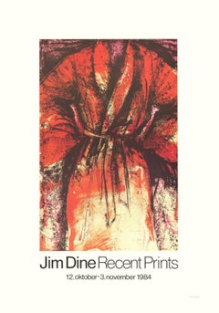 1984 After Jim Dine 'Robe' Pop Art Red,Yellow,White,Black Offset Lithograph