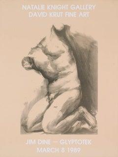 1989 After Jim Dine 'Glyptotek' Pop Art Brown South Africa Offset Lithograph