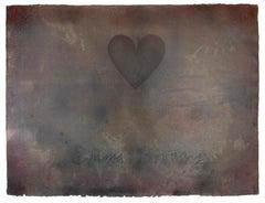 Emma Bovary: unique print. Heart