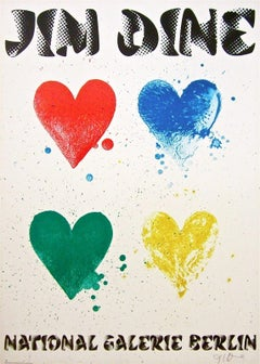 Four Hearts, 1971 Signed National Gallerie Berlin Exhibition Poster