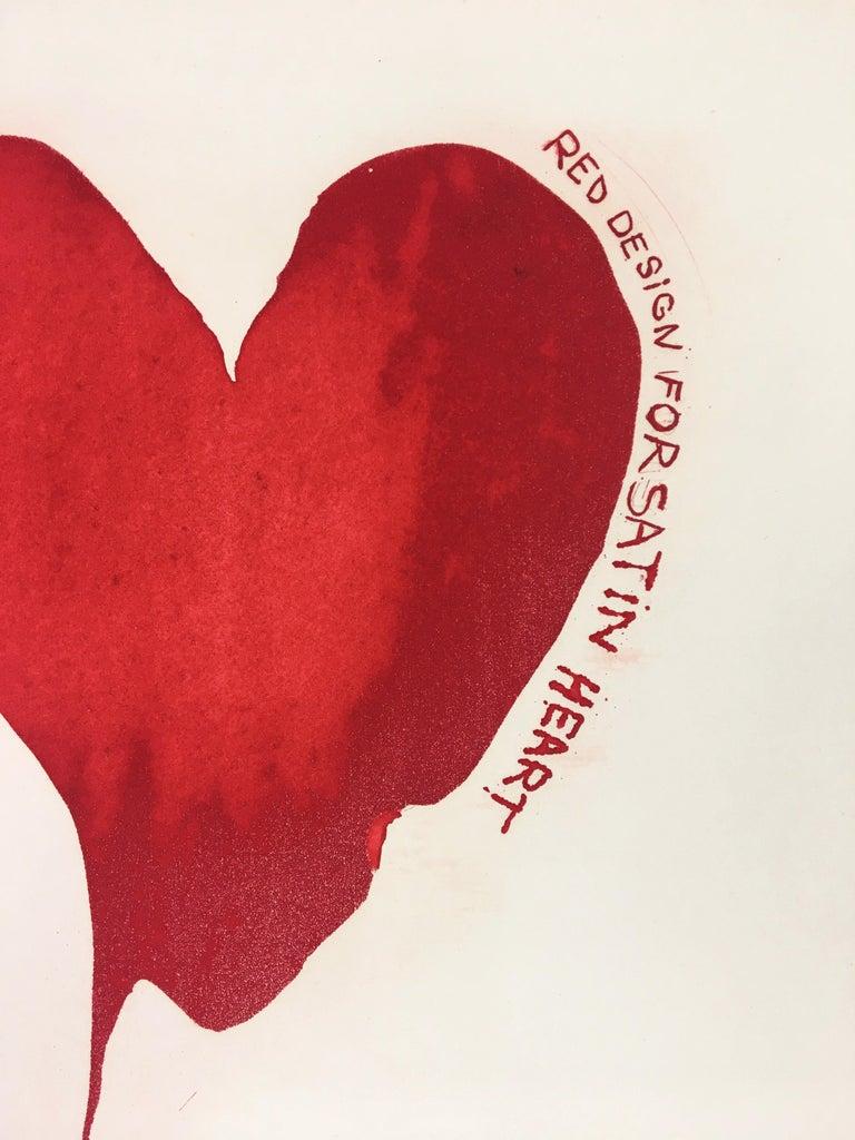 FRAMED Red Design for Satin Heart  2