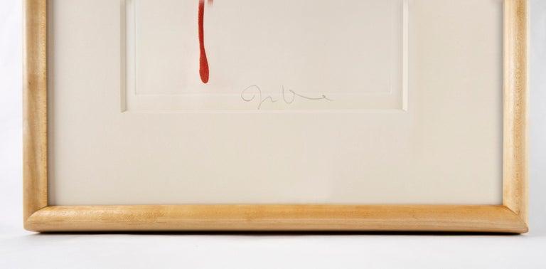 FRAMED Red Design for Satin Heart  3