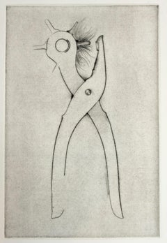 Hole Punch (Jim Dine 30 Bones of My Body portfolio) tool dry point