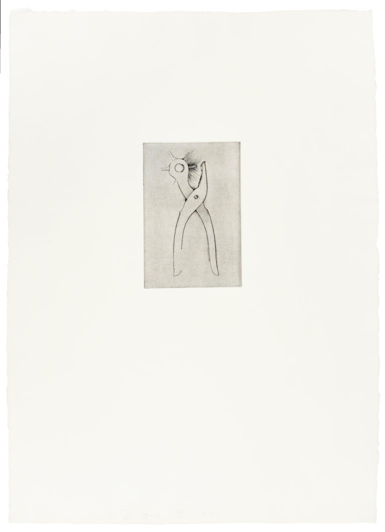 Hole Punch (Jim Dine 30 Bones of My Body portfolio) tool dry point   - Pop Art Print by Jim Dine