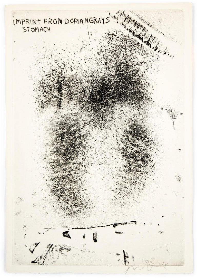 """Jim Dine Print - Imprint from Dorian Gray's Stomach from """"The Picture of Dorian Gray"""""""