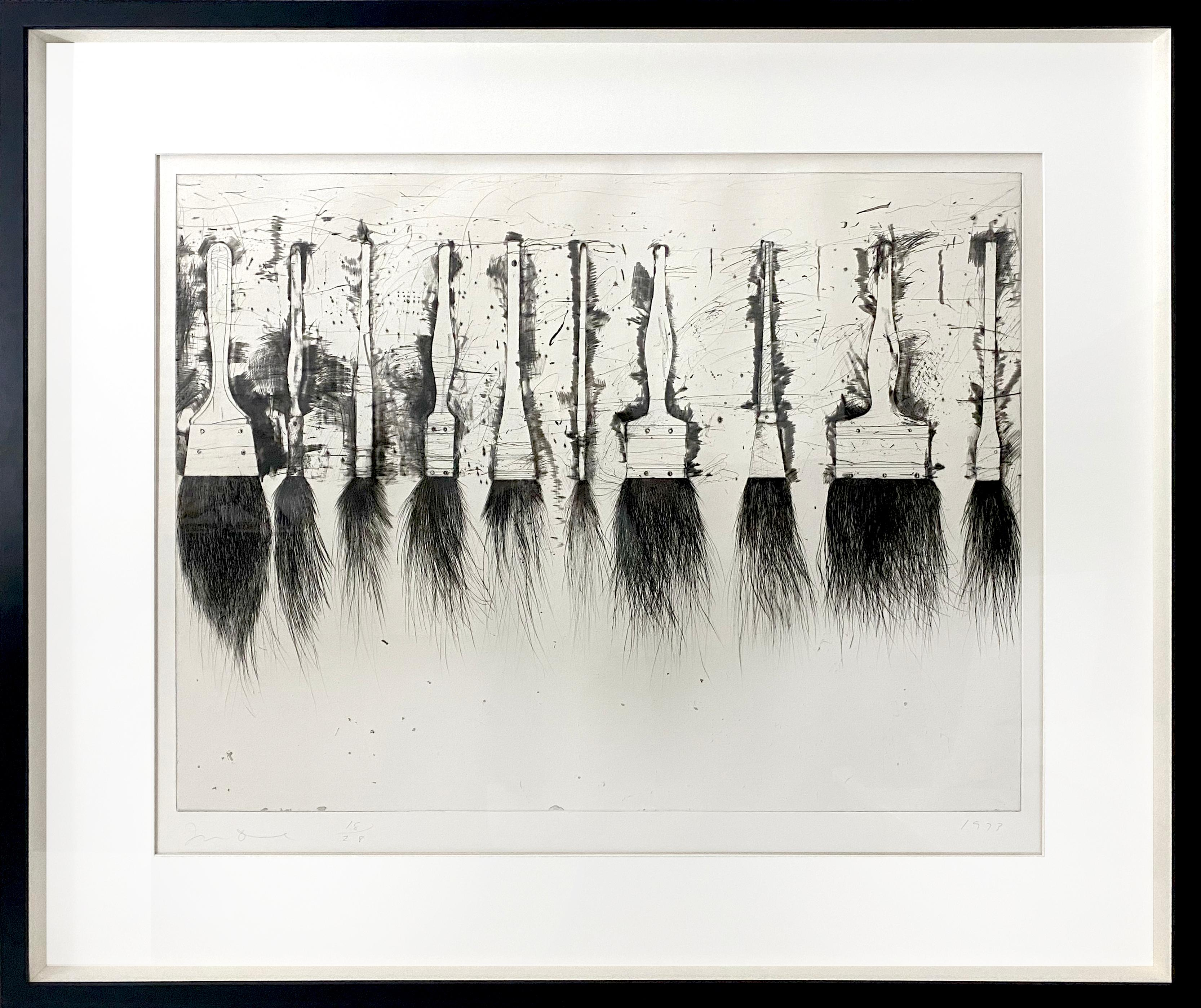 """Jim Dine """"Five Paintbrushes (3rd State)"""""""