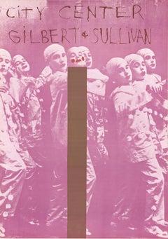 "Jim Dine-Gilbert And Sullivan-35"" x 24.5""-Poster-1968-Pop Art-Pink, Brown"