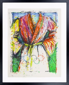 """Jim Dine """"Olympic Robe"""" limited edition lithograph, 1988"""