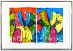 Jim Dine Original Etching Lithograph Florida Bathrobes Robe Large Signed Artwork