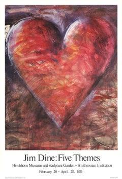 "Jim Dine-The Minnesota Watercolor-34"" x 23.25""-Poster-1985-Pop Art-Multicolor"