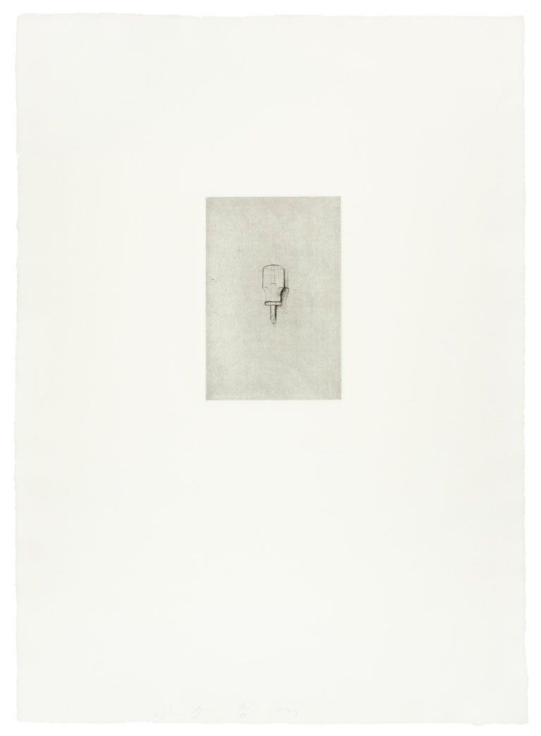 Phillips Screwdriver (Jim Dine 30 Bones of My Body portfolio) tool dry point  - Pop Art Print by Jim Dine