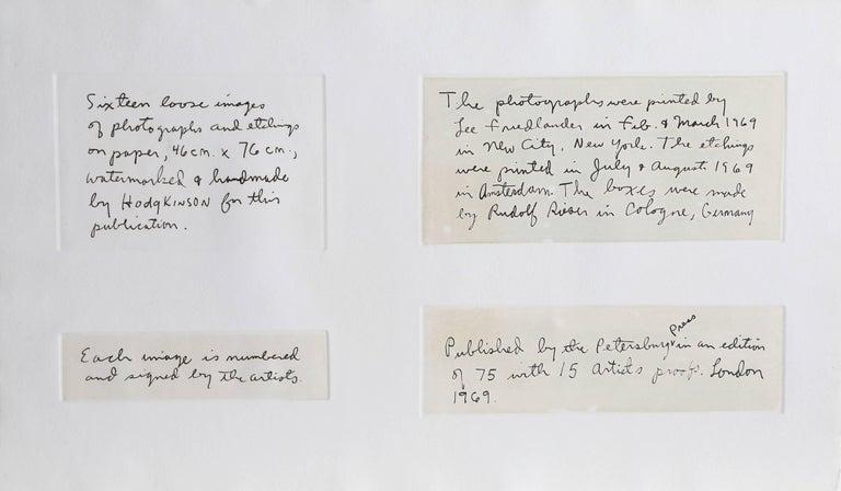 Photographs and Etchings, Jim Dine and Lee Friedlander Portfolio 1969 For Sale 1