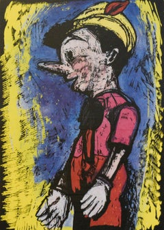 Pinocchio (Framed Pop Art Screen Print by Jim Dine)