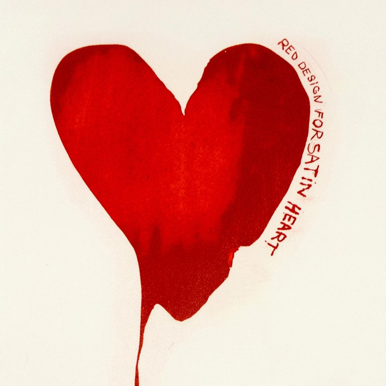 "Jim Dine Red Design for Satin Heart ""The Picture of Dorian Grey"" bleeding heart - Print by Jim Dine"