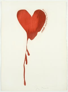 "Red Design for Satin Heart from ""The Picture of Dorian Grey"""