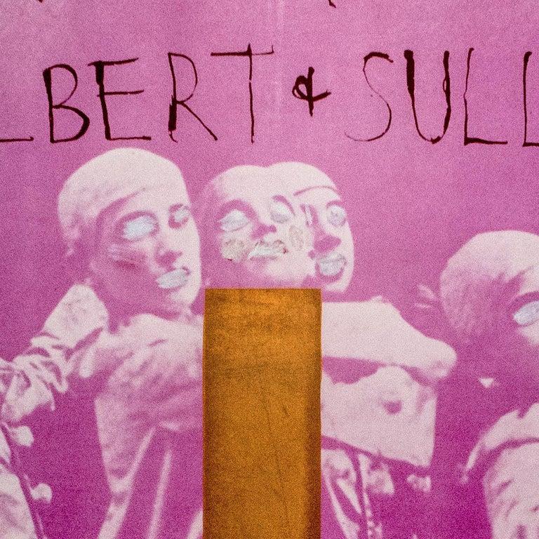Signed hand painted Jim Dine poster City Center, New York, Gilbert and Sullivan - Pop Art Art by Jim Dine