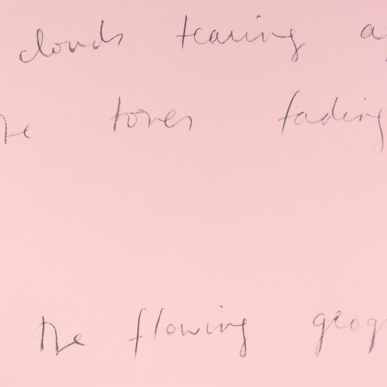 So I lean back (Oo La La) Jim Dine lithograph and Ron Padgett poetry pink bird - Pink Figurative Print by Jim Dine