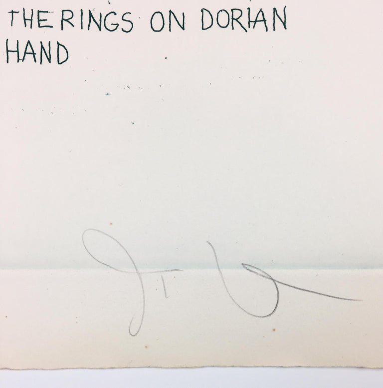 Study for the Rings on Dorian Gray's Hand from