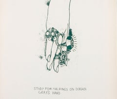 """Study for the Rings on Dorian Gray's Hand from """"The Picture of Dorian Gray"""""""