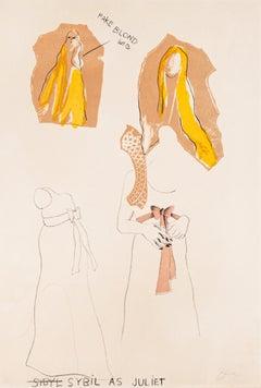 Sybil as Juliet - Original Lithograph by Jim Dine - 1968