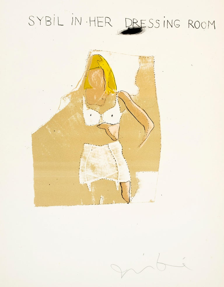 Jim Dine Sybil in her Dressing Room The Picture of Dorian Gray Hollywood starlet - White Print by Jim Dine