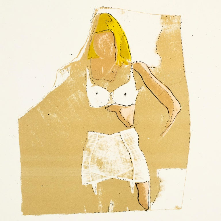 Jim Dine Sybil in her Dressing Room The Picture of Dorian Gray Hollywood starlet - Print by Jim Dine