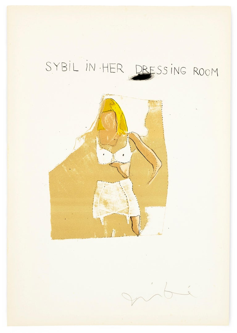 Jim Dine Sybil in her Dressing Room The Picture of Dorian Gray Hollywood starlet - Pop Art Print by Jim Dine